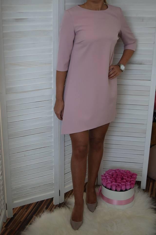 f7d90c98ae24 Jednoduché šaty v áčkovom strihu - ružová. ZOBRAZIŤ