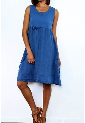 Letné krátke šaty bez rukávov  2165bcad428