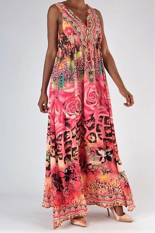 f9b9f270c Luxusné dlhé letné neónové šaty   ONLINEMODA.SK
